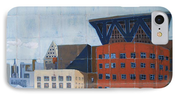 IPhone Case featuring the painting Dam Public Library by Erin Fickert-Rowland