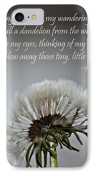 Dandelion Dreams- Fine Art And Poetry IPhone Case