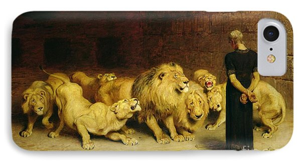 Africa iPhone 8 Case - Daniel In The Lions Den by Briton Riviere