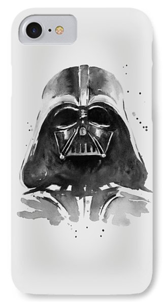 Portraits iPhone 8 Case - Darth Vader Watercolor by Olga Shvartsur