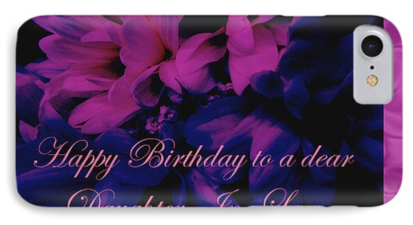 iPhone 8 Case - Daughter-in-law Birthday Card        Chrysanthemum by Mother Nature