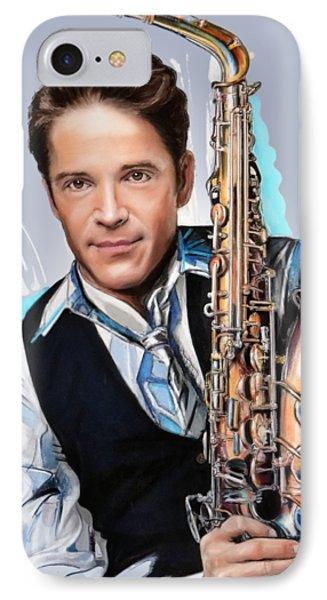 Saxophone iPhone 8 Case - Dave Koz by Melanie D