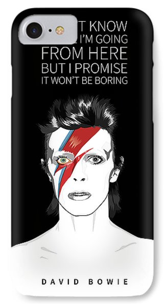 Tribute iPhone 8 Case - David Bowie Quote by BONB Creative