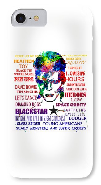 Tribute iPhone 8 Case - David Bowie Tribute by Patricia Lintner