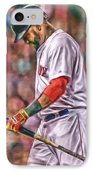 David Ortiz Boston Red Sox Oil Art 4 IPhone Case