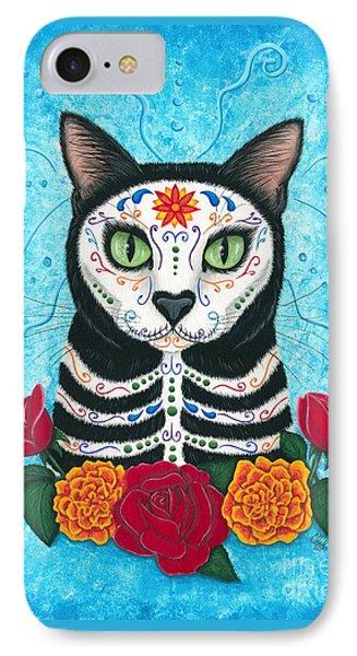 Day Of The Dead Cat - Sugar Skull Cat IPhone Case