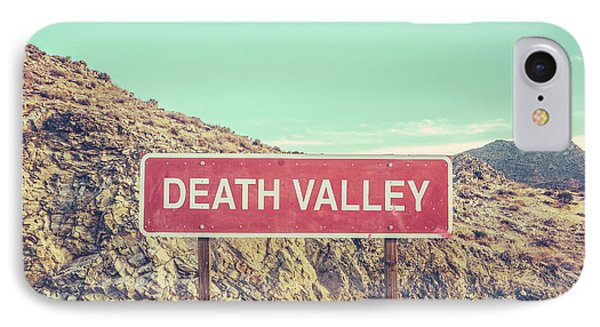 Beautiful Nature iPhone 8 Case - Death Valley Sign by Mr Doomits