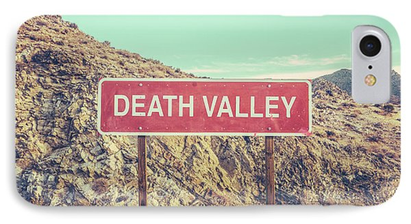 Sky iPhone 8 Case - Death Valley Sign by Mr Doomits