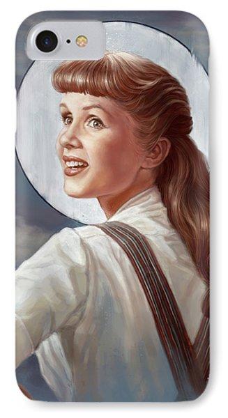 Tribute iPhone 8 Case - Debbie Reynolds by Andre Koekemoer