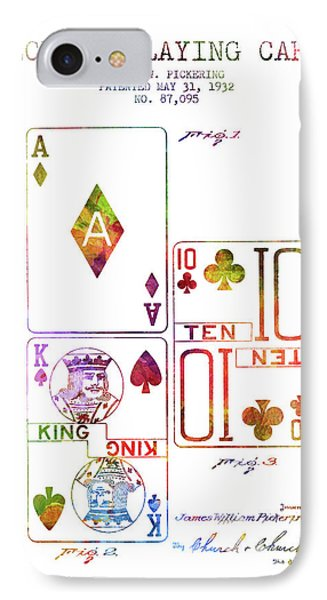 Deck Of Playing Cards Patent From 1932 - Charcoal IPhone Case