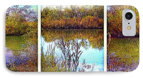 Deep Lake Reflections - Triptych IPhone Case