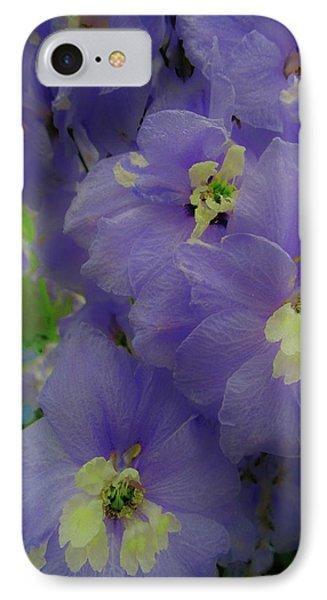 Delphinium Blues IPhone Case