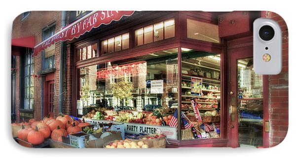 IPhone Case featuring the photograph Deluca's Market - Boston by Joann Vitali