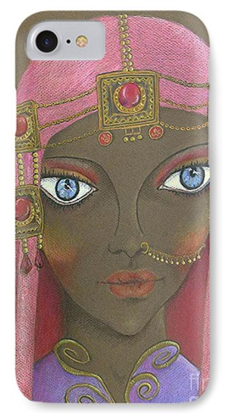 Desert Diva -- Whimsical Arabic Woman IPhone Case