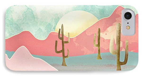 Landscapes iPhone 8 Case - Desert Mountains by Spacefrog Designs