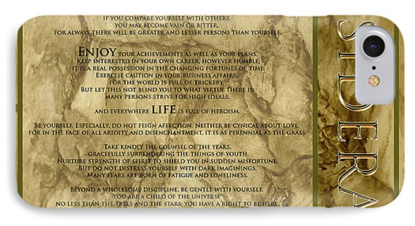 Desiderata #8 IPhone Case