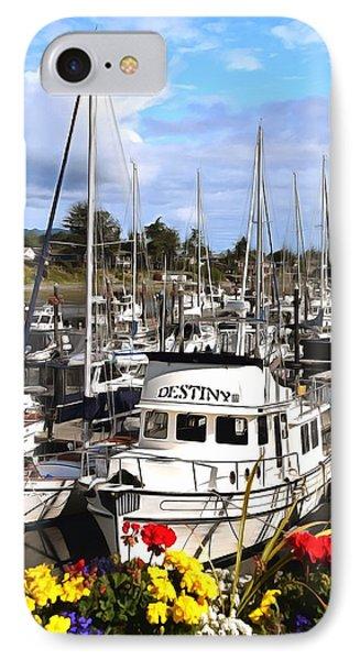 Destiny Sidney Harbor British Columbia Canada Painting IPhone Case