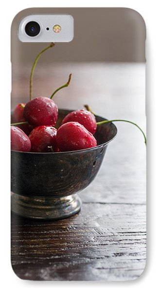 Dewy Cherries IPhone Case