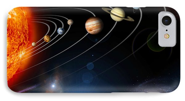 Digitally Generated Image Of Our Solar IPhone Case