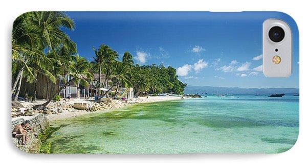 Diniwid Tropical Beach In Boracay Island Philippines IPhone Case