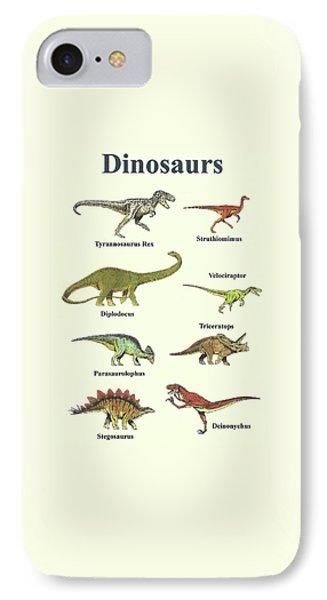 Dinosaurs Montage - Portrait IPhone Case