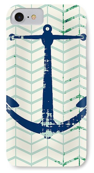 Distressed Navy Anchor V2 IPhone Case