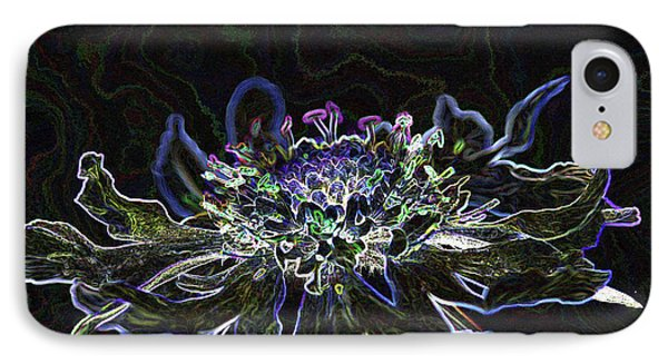 Ditigal Abstract Art Glowing Flower IPhone Case