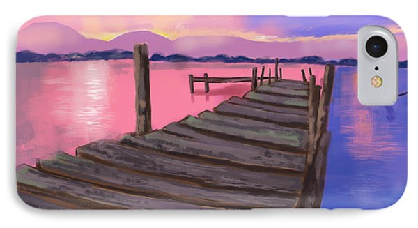 Dock At Sunset IPhone Case