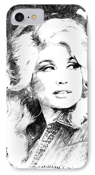 Dolly Parton Bw Portrait IPhone Case