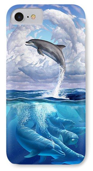 Beach iPhone 8 Case - Dolphonic Symphony by Jerry LoFaro