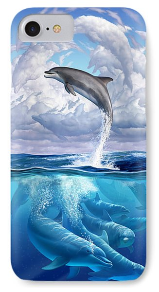 Dolphonic Symphony IPhone Case