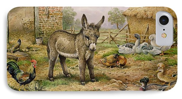 Donkey And Farmyard Fowl  IPhone Case