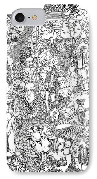 Doodle Art 1987 IPhone Case