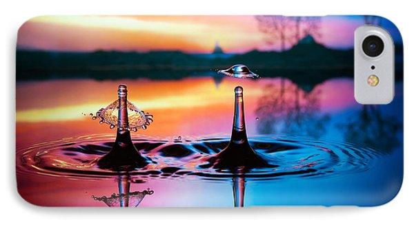 Double Liquid Art IPhone Case