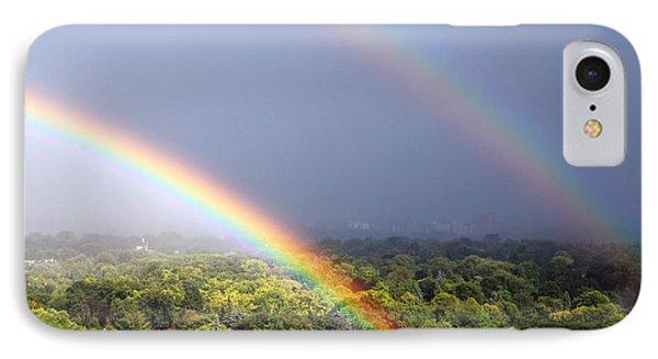 Double Rainbows IPhone Case