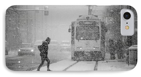 Downtown Snow Storm IPhone Case