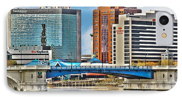 Downtown Toledo Riverfront IPhone Case