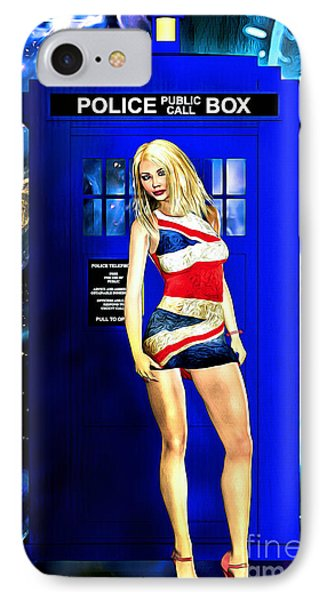 Doctor Who - Tardis And Rose Tyler IPhone Case