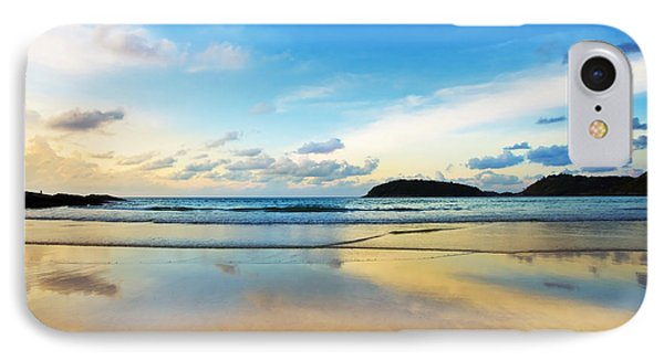 Dramatic Scene Of Sunset On The Beach IPhone Case