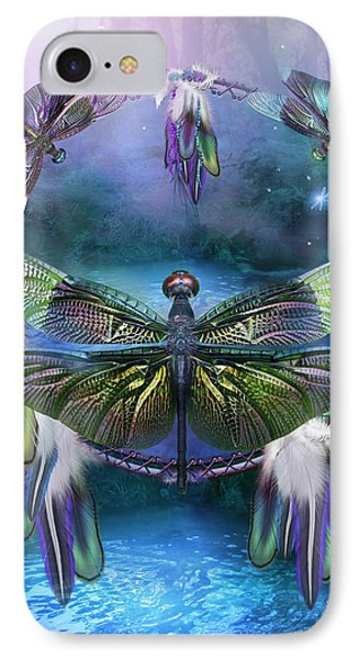 Dream Catcher - Spirit Of The Dragonfly IPhone Case