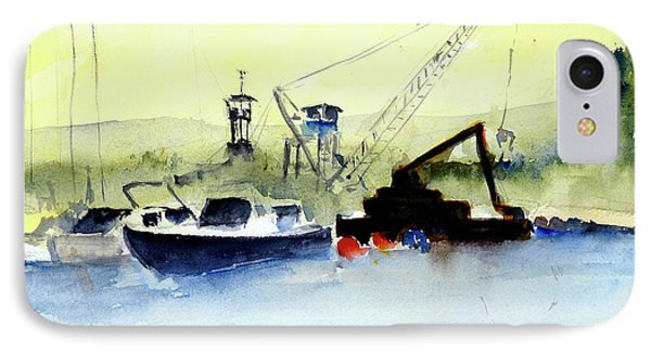 Dredging At Marin Yacht Club IPhone Case
