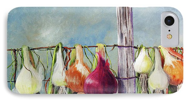 Drying Onions IPhone Case