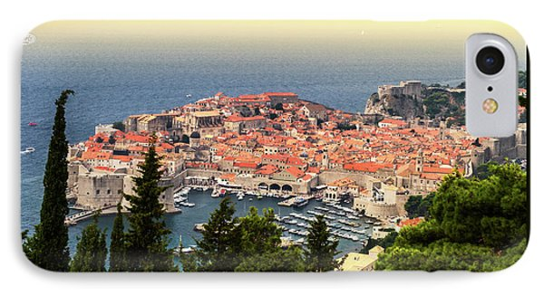 Dubrovnik Old City On The Adriatic Sea, South Dalmatia Region, C IPhone Case