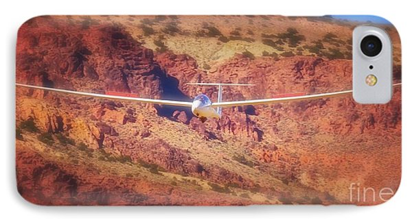 Duo Discus Over Red Rocks IPhone Case