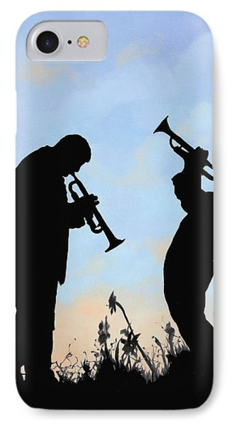 Trumpet iPhone 8 Case - duo by Guido Borelli