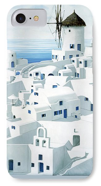 Dwellings, Santorini - Prints From Original Oil Painting IPhone Case
