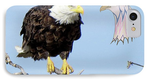 Eagle Reflection IPhone Case
