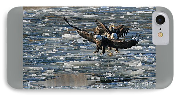 Eagles On Ice IPhone Case