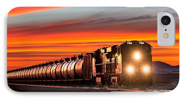 Train iPhone 8 Case - Early Morning Haul by Todd Klassy
