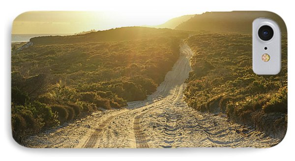 Early Morning Light On 4wd Sand Track IPhone Case